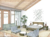 Alpensia Golf Resort Residences Bedroom, Korea