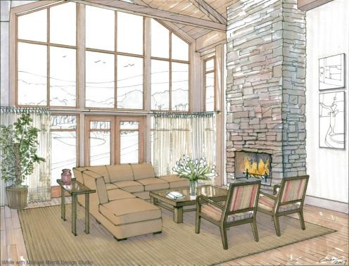 Alpensia Golf Resort Residences Living Room, Korea