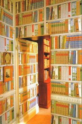 Fake Book Wallpaper Faux Books  Hoechstetter Interiors