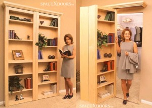 Folding bookshelf cabinet doors by SpaceX, via Move Trends website