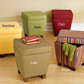 Tribeca Storage Ottoman from Kaboodle.com