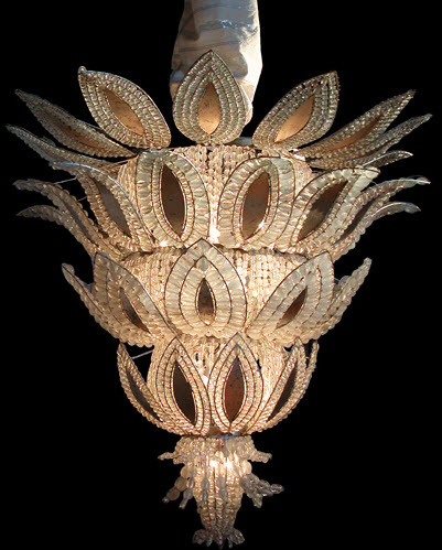 French Anas Art Deco Chandelier