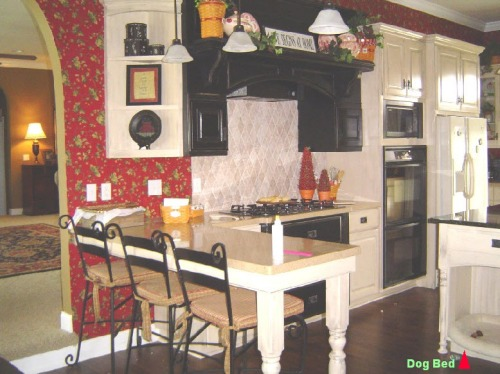 The same idea, this time built into the kitchen island.  From G.R. Baker Construction's website.