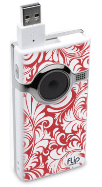 FLIP Video - Vintage Red & White Wallpaper Pattern 2