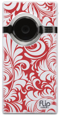 FLIP Video - Vintage Red & White Wallpaper Pattern