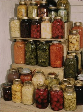 Well Stocked Pantry with Preserved Foods