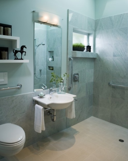 Aging in place projects scrub the tub and make showers - Showers for small bathrooms ...