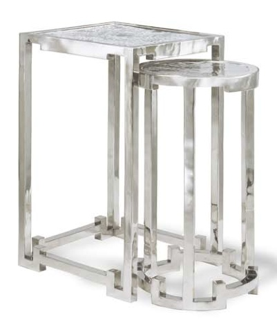 White bronze nesting tables