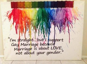 I'm Straight but I Support Gay Marriage with paintbrushes